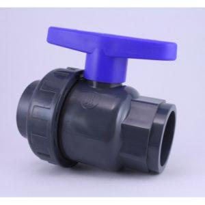 Válvula de Bola PVC DE050 mm Unión Simple